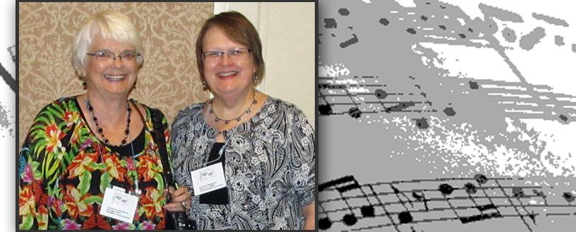 NFMC President Carolyn Nelson and MFMC Treasurer Gwen Degner