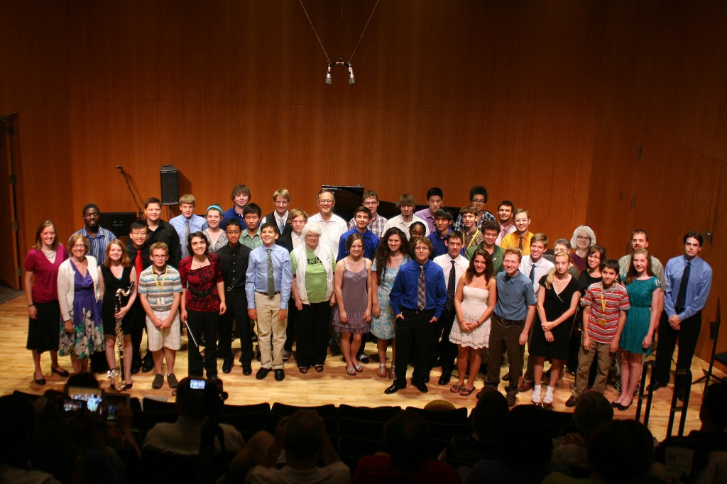 Students who premiered new compositions at the Final Salons